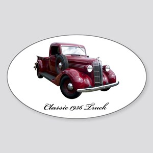 1936 Old Pickup Truck Sticker (Oval)