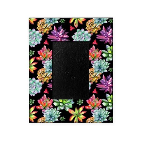 Rainbow Succulents Picture Frame
