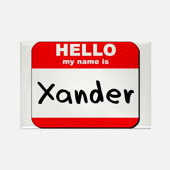 Hello my name is Xander Rectangle Magnet
