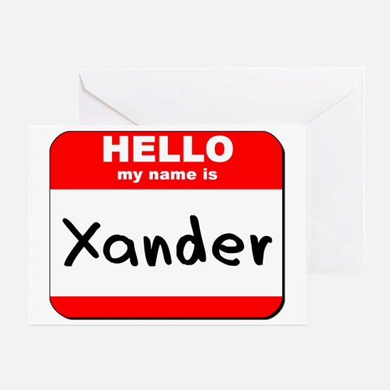 Hello my name is Xander Greeting Card