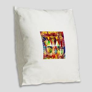 Paul Klee Night Feast Burlap Throw Pillow