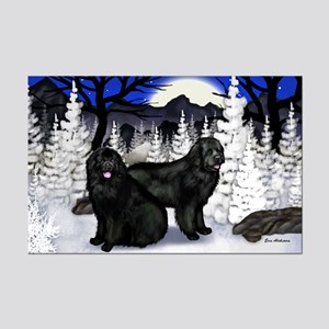 NEWFOUNDLAND DOGS WINTER Mini Poster Print