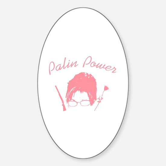 Palin Power Oval Decal