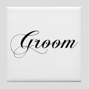 Groom Tile Coaster