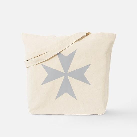 Silver Maltese Cross Tote Bag