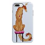 Borzoi Princess Red/Gold iPhone 8/7 Plus Tough Cas
