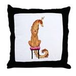 Borzoi Princess Red/Gold Throw Pillow