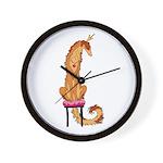 Borzoi Princess Red/Gold Wall Clock
