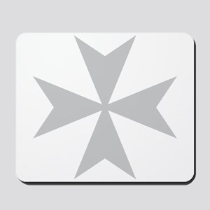 Silver Maltese Cross Mousepad