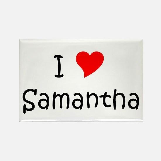 Cute I love samantha Rectangle Magnet