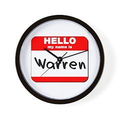 Hello my name is Warren Wall Clock