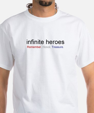 infinite heroes White T-Shirt