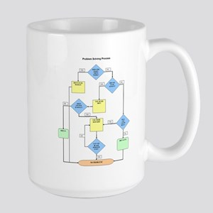 """Flowchart"" Large Mug"