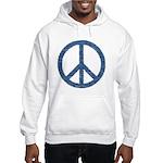 Blue Peace Sign Hooded Sweatshirt