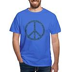 Blue Peace Sign Dark T-Shirt
