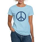 Blue Peace Sign Women's Light T-Shirt