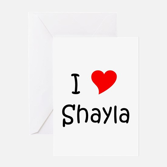 Cool Shayla Greeting Card