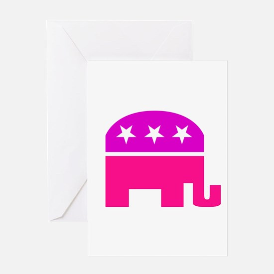 GOP Pink Elephant Greeting Card
