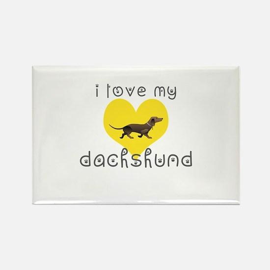 i love my duchshund Magnets