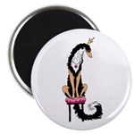 Borzoi Princess Blk/Tan Magnets