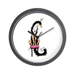 Borzoi Princess Blk/Tan Wall Clock