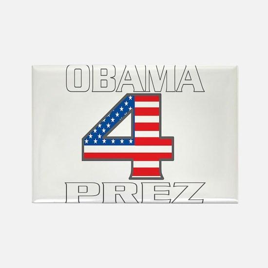 Obama 4 Prez Rectangle Magnet