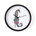 Borzoi Princess Grey Wall Clock
