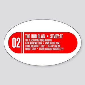 LCARS Oval Sticker