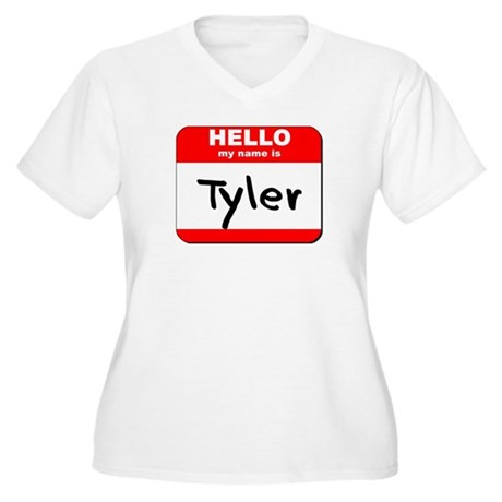 Hello my name is Tyler Women's Plus Size V-Neck T-