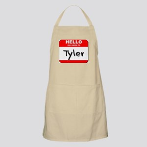 Hello my name is Tyler BBQ Apron
