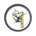 No Roads 1 Wall Clock