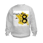 cant wait for 8.2 Kids Sweatshirt