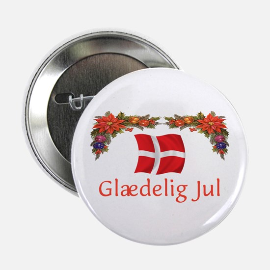 "Danish Glaedelig Jul 2 2.25"" Button"