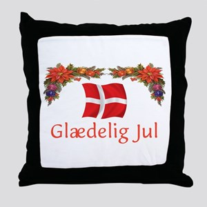 Danish Glaedelig Jul 2 Throw Pillow