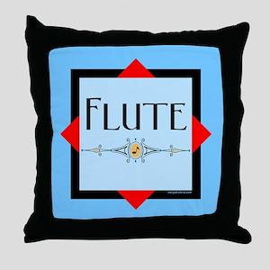 Flute Throw Pillow