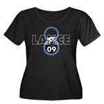 8 in 09 Women's Plus Size Scoop Neck Dark T-Shirt