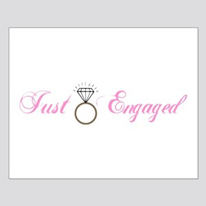 Just Engaged (Diamond Ring) Small Poster