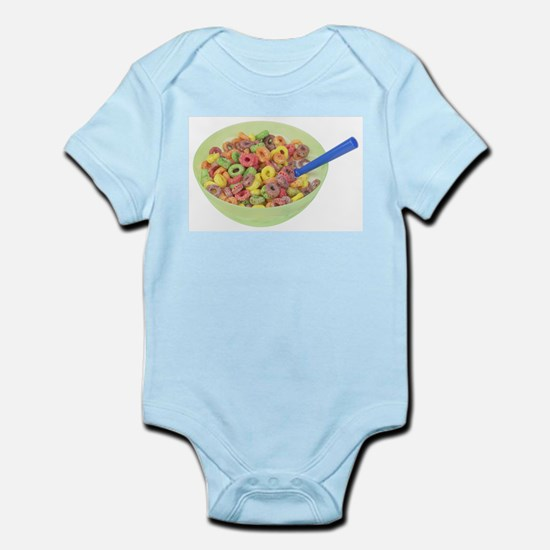 Some Fruity Cereal On Your Infant Creeper