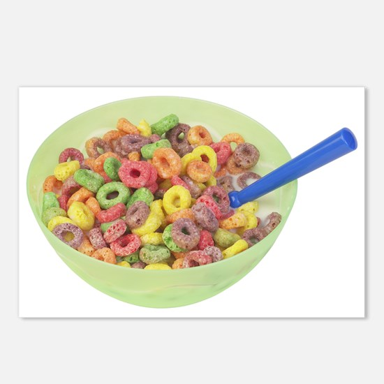 Some Fruity Cereal On Your Postcards (Package of 8