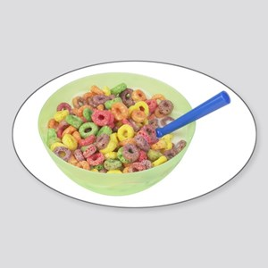 Some Fruity Cereal On Your Oval Sticker