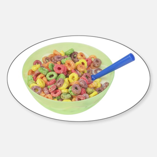 Some Fruity Cereal On Your Oval Decal