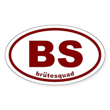 brutesquad BS Oval Sticker (50 pk)