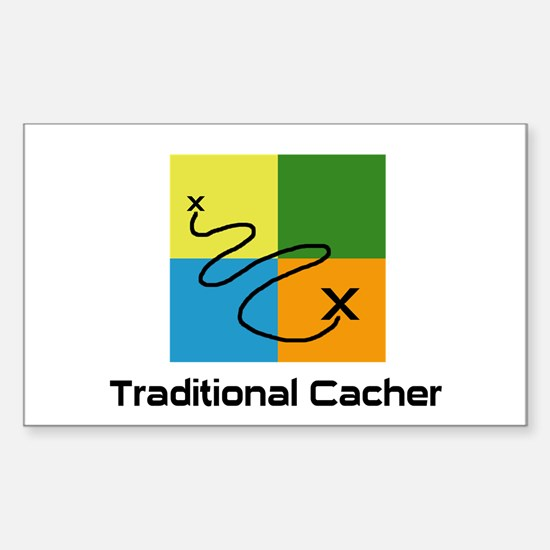 Traditional Cacher Rectangle Decal
