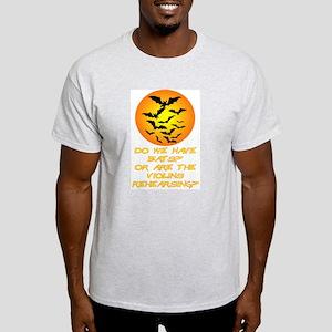 Halloween Bats or Violins? Light T-Shirt