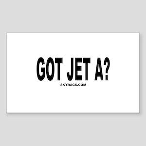 GOT JET A? Rectangle Sticker