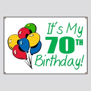 Its My 70th Birthday Balloons Banner