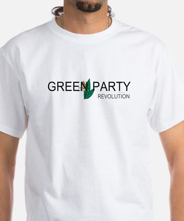 Green Party White T-Shirt