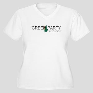 Green Party Women's Plus Size V-Neck T-Shirt