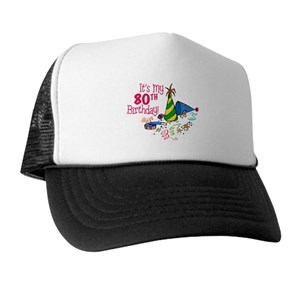 Funny 80th Birthday Party Trucker Hats
