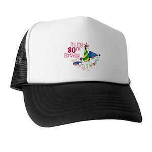 Funny 80th Birthday Party Trucker Hats
